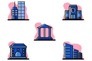 Construcción de conjunto de iconos de diseño de ilustración vectorial conceptual vector
