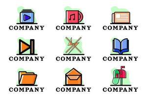 Set of Company Conceptual Business Logo Vector Illustration Design