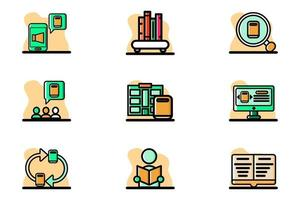 School and Education Icon Set Vector Illustration Design