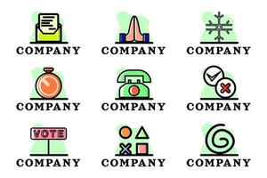 Set of Business Logo Company Design Illustration Vector