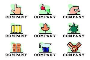 Set of Company Business Logo Design Illustration Vector