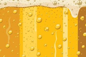 Close up of beer in glass vector