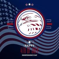 ilustration graphic vector of american eagle flag