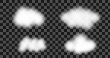 Set of vector cloud background