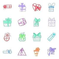 Pack of Gift Package vector