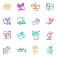 Pack of Christmas Gift vector