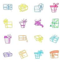 Pack of Fancy Wrapping vector