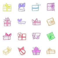 Pack of Gift Boxes vector