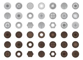 Bolts and nuts set vector illustration