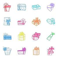Pack of Wrapped Boxes vector