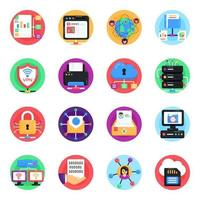 Pack of Global Networking vector