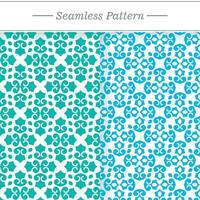Collection of seamless pastel ornamental patterns vector
