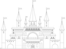 castle outline perfect for coloring page vector