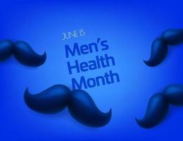 junio es el mes mundial de la salud masculina vector