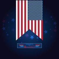 ilustration graphic vector of memorial day of america