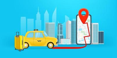 Mobile application to get a taxi vector