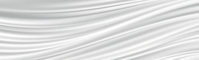 Abstract white background wavy white lines folds vector