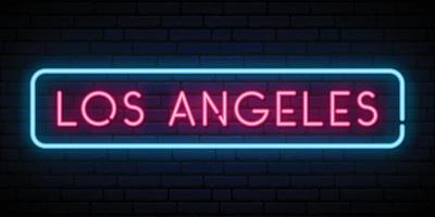 Los Angeles neon sign vector