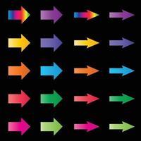 rainbow color vector arrows