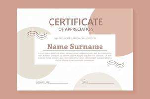 Abstract geometric style certificate template vector