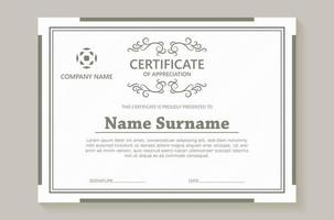 Classic certificate award template vector