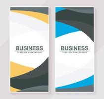Stylish wavy vertical banners template vector