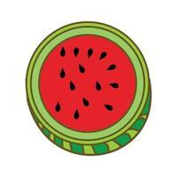 Watermelon Fruit Template Vector Flat