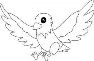 Eagle Kids Coloring Page Great for Beginner Coloring Book vector