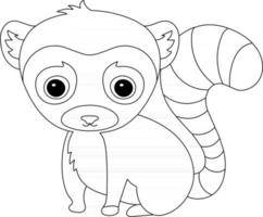 Lemur Kids Coloring Page Great for Beginner Coloring Book vector