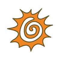 vector de plantilla de ilustración de diseño abstracto de sol
