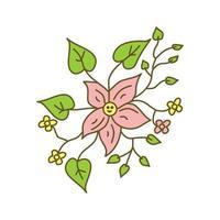 Flower Leaf Design Illustration Template Vector