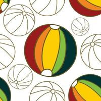 Ball Beach Pattern Seamless Design Template Vector