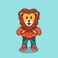 Cute Lion Mascot Cute Lion Cartoon Lion cute angry cartoon vector