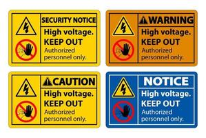 High Voltage Keep Out Sign vector