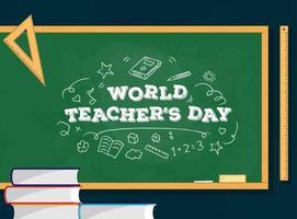 World teacher day vector