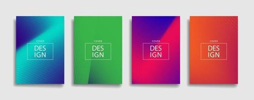 Set of abstract modern gradient cover template vector