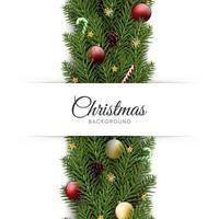 Realistic christmas festive background vector