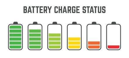 nivel de carga de la batería conjunto de recopilación vector
