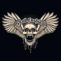 Gothic sign with skull grunge vintage design t shirts vector