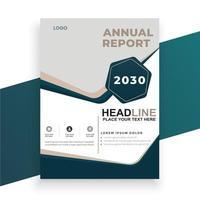 annual report cover design template vector