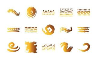 bundle of creative design with brush strokes icons vector
