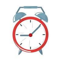 despertador despertador tiempo icono diseño plano vector