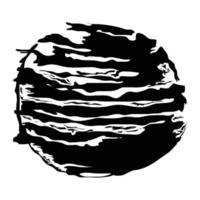 brush strokes circle vector