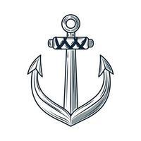 nautical anchor sketch vector