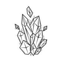 tattoo quartz crystal vector