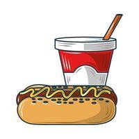fast food hotdog vector
