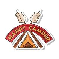 happy camper patch vector