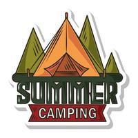 parche de campamento de verano vector