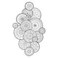 Artistic decorative mandala background floral pattern vector