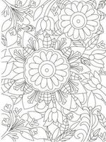 Artistic Mandala colouring book page for adults and children white and black round decorative Oriental Anti stress therapy patterns vector